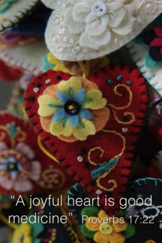Embroidery:Joyful Heart