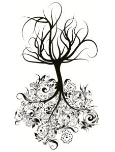 Upside down Purchased Oak Tree