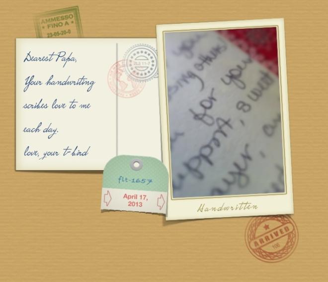 Papa Postcard:Handwritten