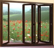 Wood-Finish-Aluminium-Bifold-Glass-Windows