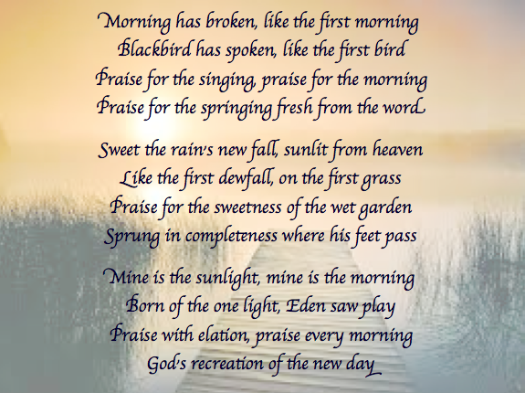 Morning Has Broken Steve Curtis Chapman featuring Caleb Chapman :)